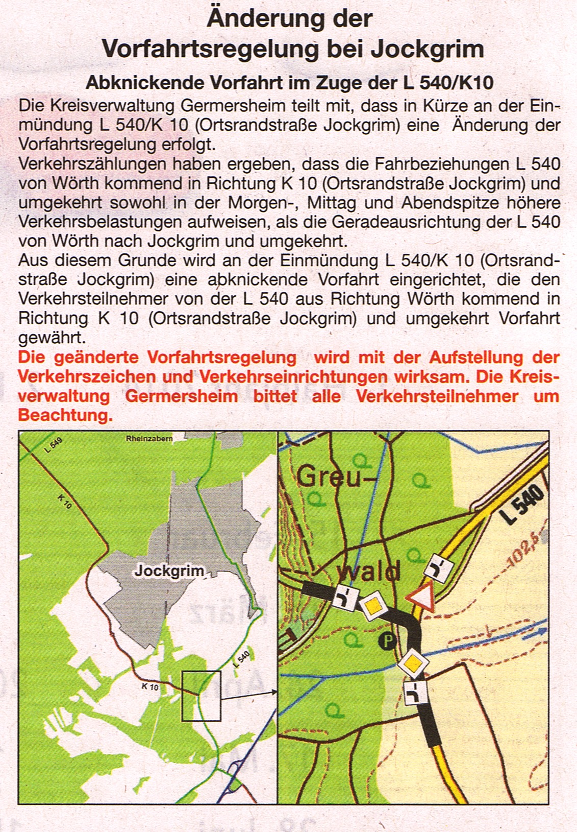 Verkehrführung-Wilhelmsruhe